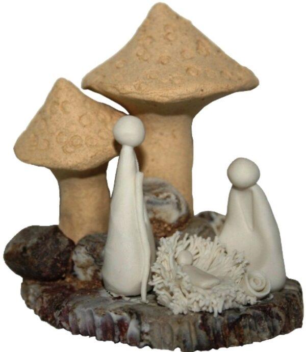 presépio c/cogumelos